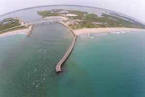 SkiBerg, LLC Sebastian Inlet aerial photography boats fishing surfing beach