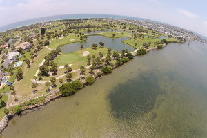 golf course indian river spessard holland aerial view
